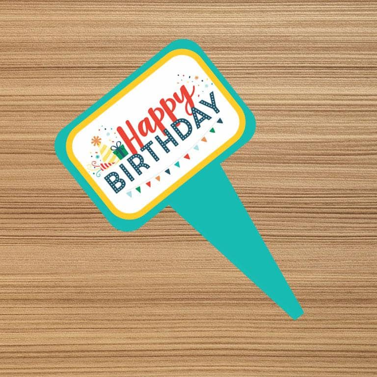 Cake Toppers - Happy Birthday B (Pack of 100 Pcs) - Party Pirates