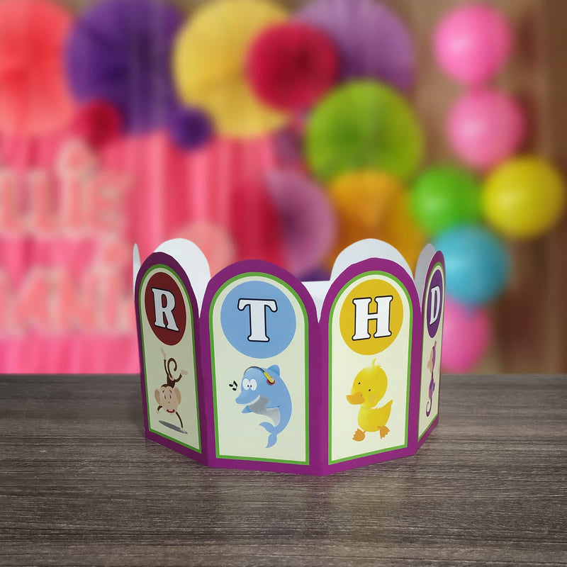 Animals Theme Birthday Party Crowns (Pack of 10 Pcs) - Party Pirates