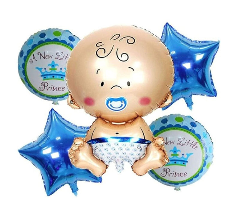 Foil Balloon - Baby Boy Set (Pack of 5 Pcs) - Party Pirates