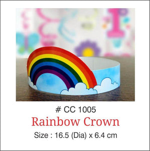 Rainbow Colored Party Crowns - Party Pirates