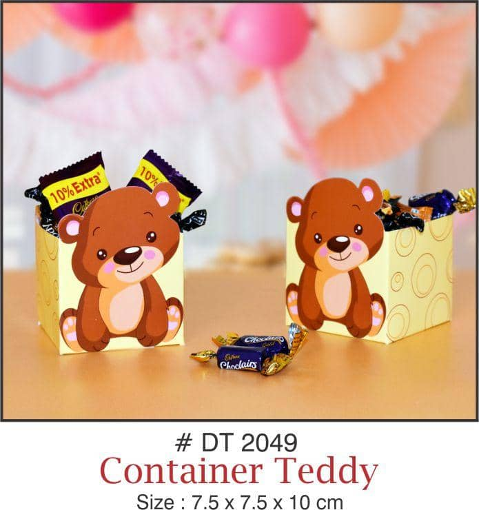 Table Decoration - Chocolate/Candy Boxes (Teddy) - Party Pirates
