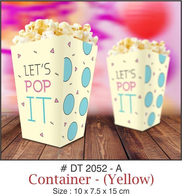 Table Decoration - Popcorn/Chips Containers - Party Pirates