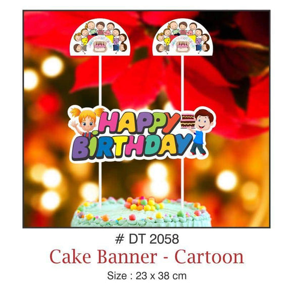 Cake Banners - Birthday (Cartoon) - Party Pirates