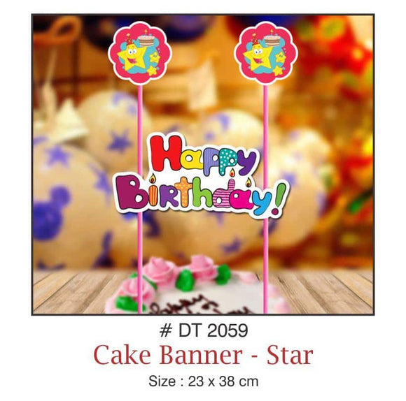 Cake Banners - Birthday (Stars) - Party Pirates