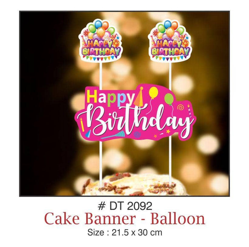 Cake Banners - Birthday (Balloons) - Party Pirates