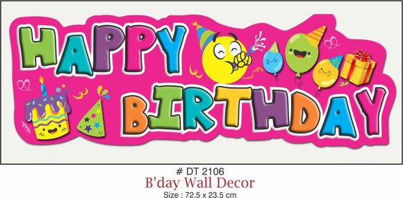 Wall Decoration - Birthday (Long) - Party Pirates