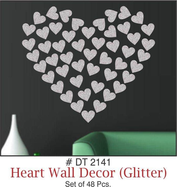 Wall Decoration - Hearts (Glitter) - Party Pirates