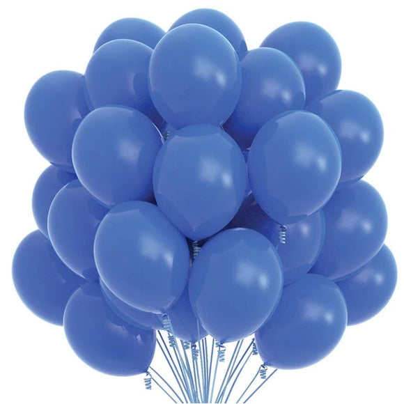 Latex Balloons - Dark Blue (Pack of 25) - Party Pirates