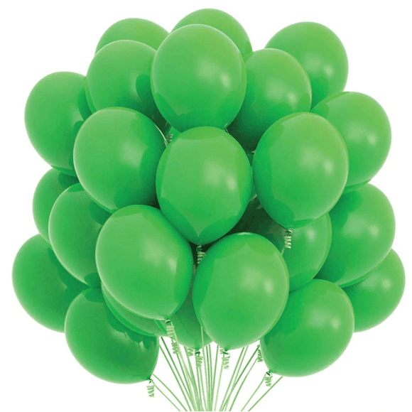 Latex Balloons - Green (Pack of 25) - Party Pirates
