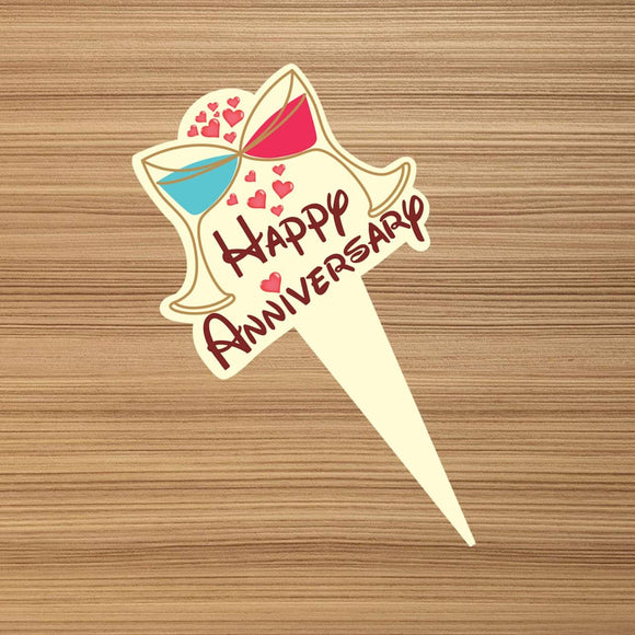 Cake Toppers - Anniversary H (Pack of 100 Pcs.) - Party Pirates