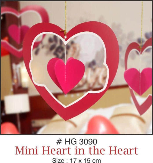 Wall Hanging - Heart in the Heart (Mini ) - Party Pirates