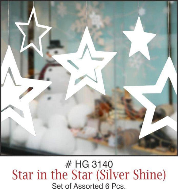 Wall Hanging - Star in the Star (Silver Shine) - Party Pirates