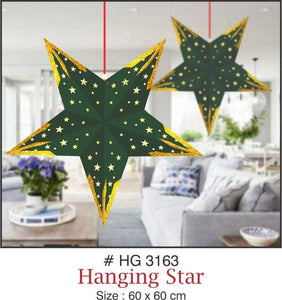 Lighting Decor - 5 Pointed Star (Dark Green) - Party Pirates