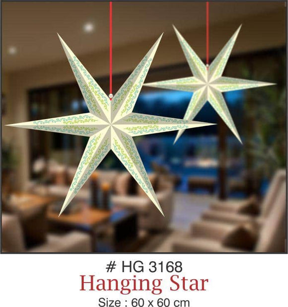 Lighting Decor - 6 Pointed Star (White) - Party Pirates