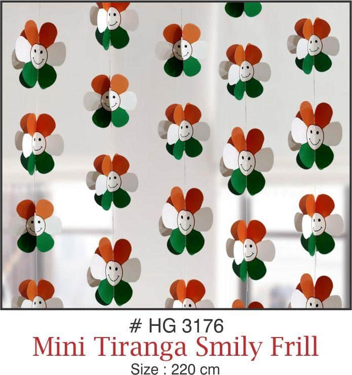Wall Hangings - Mini Smiley Flower Frill - Party Pirates