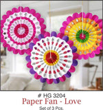 Paper Fans - Valentine's Day/Anniversary/Festivals - Party Pirates