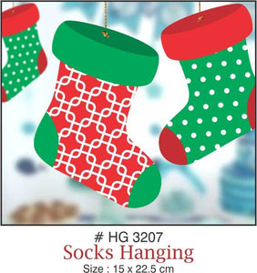 Wall Hanging - Socks (Christmas) - Party Pirates