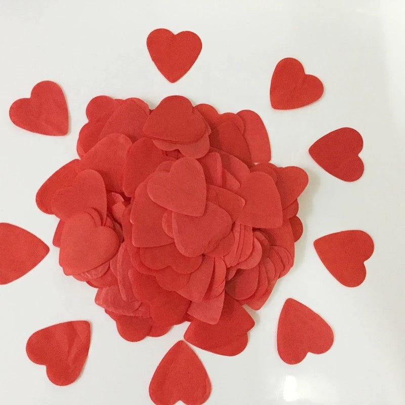 Confetti Balloons - Red Heart - Party Pirates