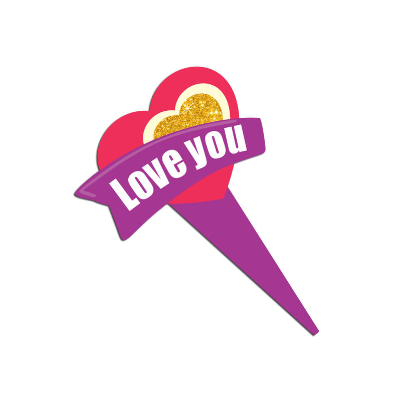 Cake Toppers - Love You (Option 2) - Party Pirates