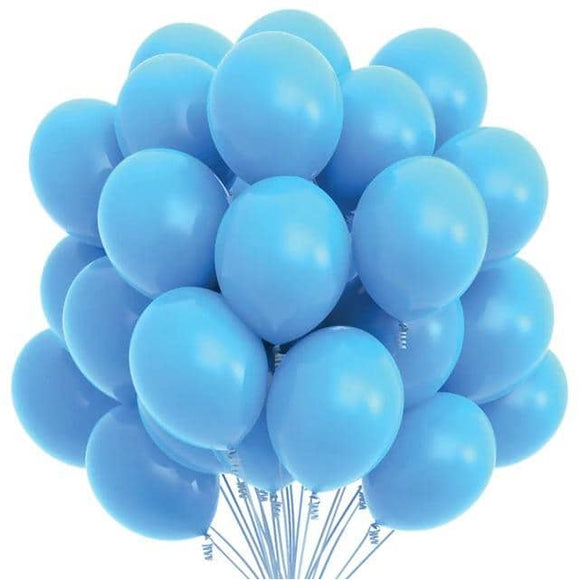 Latex Balloons - Light Blue (Pack of 25) - Party Pirates