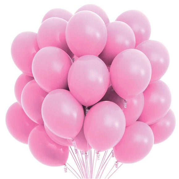 Latex Balloons - Light Pink (Pack of 25) - Party Pirates