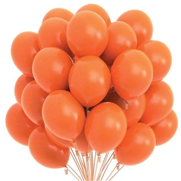 Latex Balloons - Orange (Pack of 25) - Party Pirates