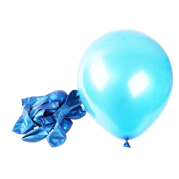 Latex Balloons - Pearl Blue (Pack of 25) - Party Pirates