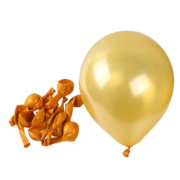 Latex Balloons - Pearl Golden (Pack of 25) - Party Pirates