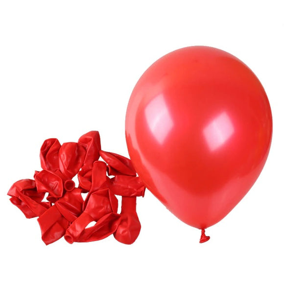 Latex Balloons - Pearl Red (Pack of 25) - Party Pirates
