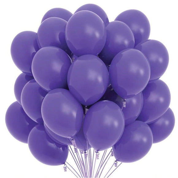 Latex Balloons - Purple (Pack of 25) - Party Pirates
