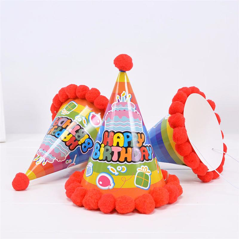 Rainbow Birthday Fancy Party Caps (Pack of 5 Pcs)