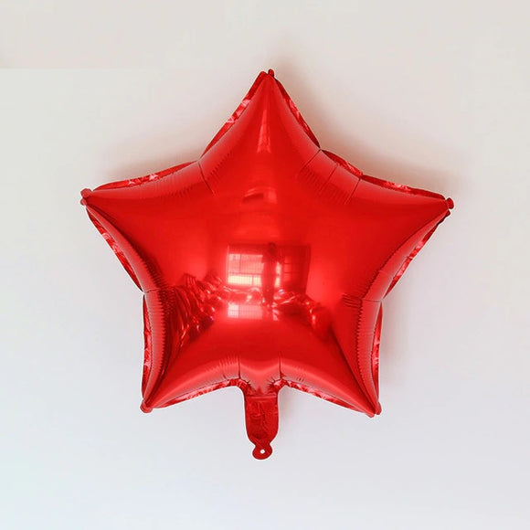 Foil Balloon - Star (Red) - Party Pirates