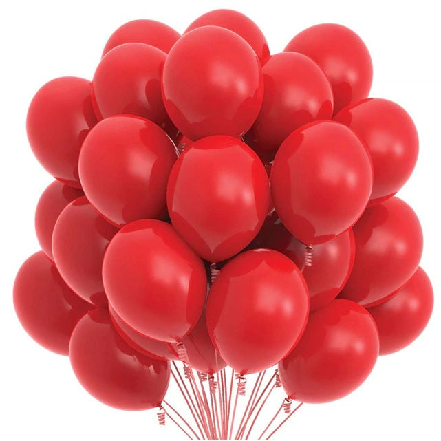 Latex Balloons - Red (Pack of 25) - Party Pirates