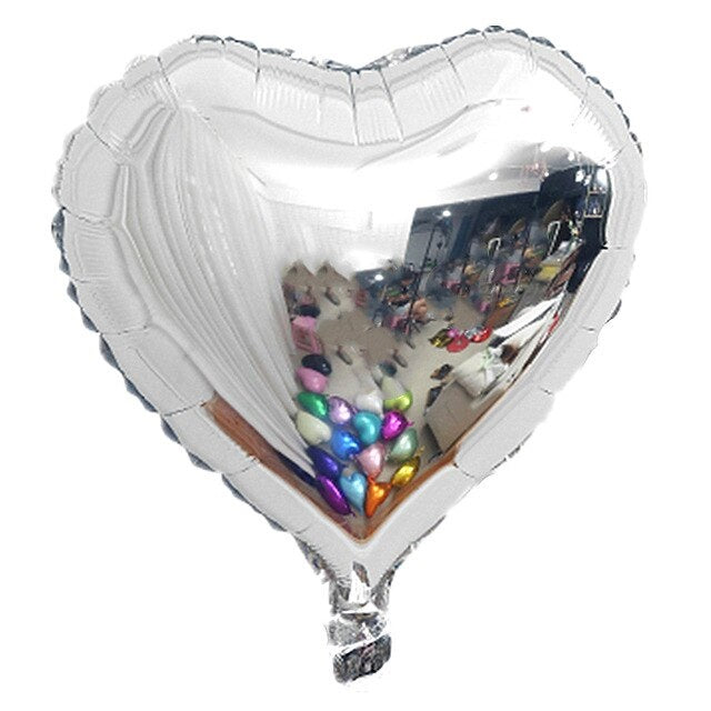 Foil Balloon - Heart (Silver) - Party Pirates