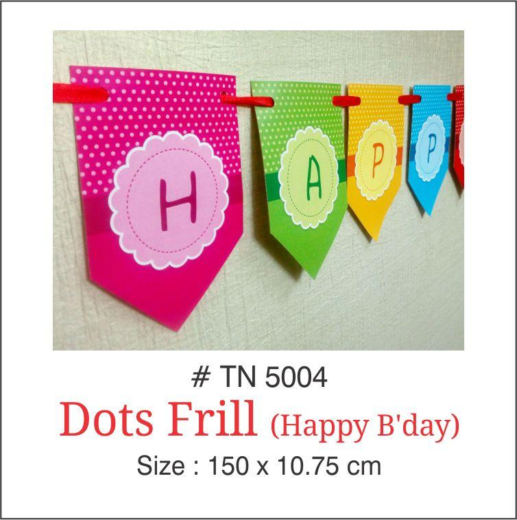 Wall Decoration - Dots Banner (Birthday) - Party Pirates
