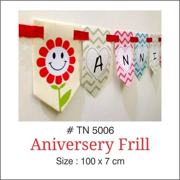 Wall Decoration - Squatring Banner (Anniversary.) - Party Pirates