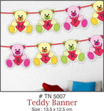 Wall Decoration - Teddy Banner (B'day) - Party Pirates