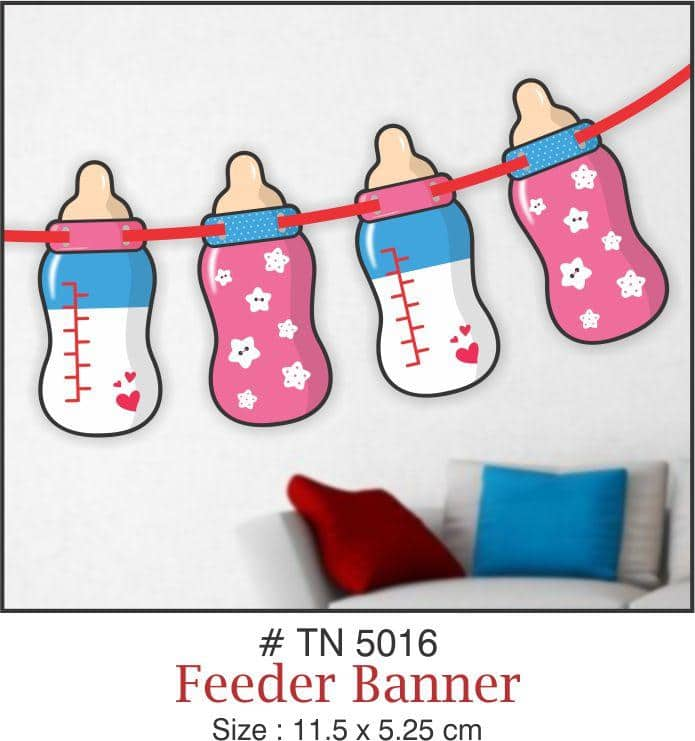 Wall Decoration - Baby Bottles Banner - Party Pirates