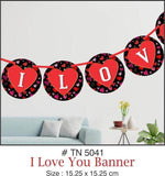 Wall Decoration - I Love You Banner - Party Pirates