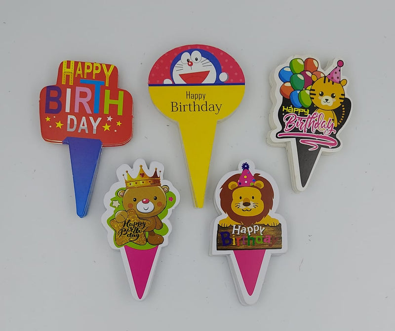 Assorted Cake Toppers - Birthday (C)