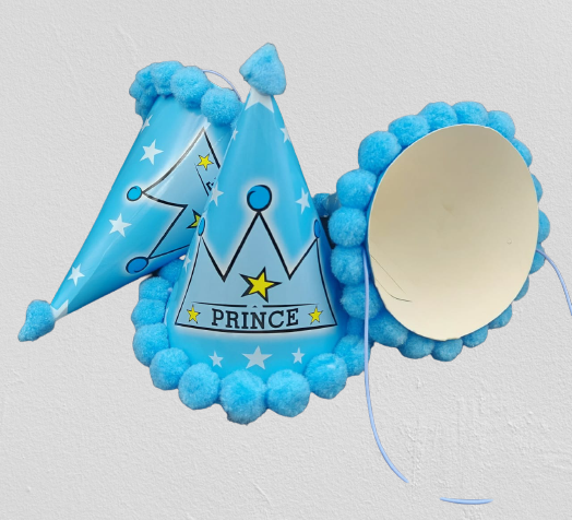 Prince Fancy  Birthday  Party Caps (Pack of 5 Pcs)