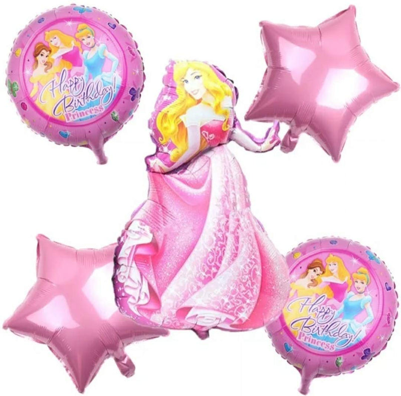 Foil Balloon - Princess (Pack of 5 Pcs)