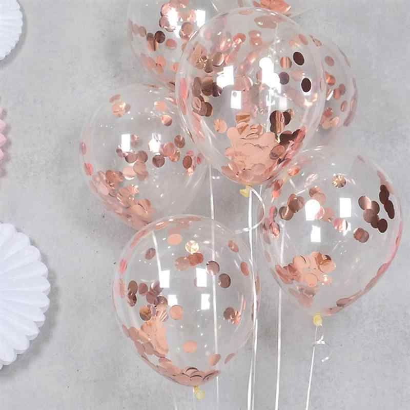 Confetti Balloons - Rose Gold - Party Pirates
