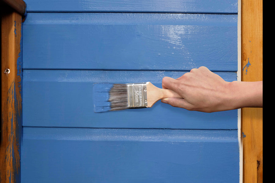 How to paint a shed step 4
