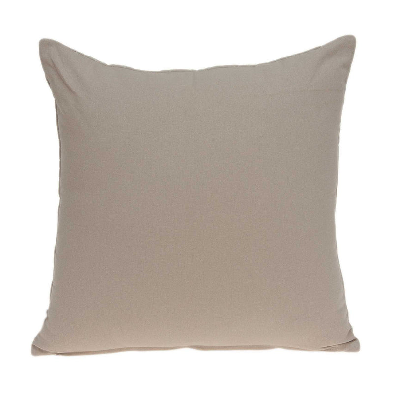 "20"" x 7"" x 20"" Charming Transitional Tan Accent Pillow Cover With Down Insert"
