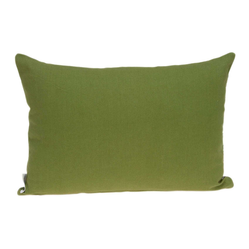 "20"" x 6"" x 14"" Tropical Green Pillow Cover With Down Insert"