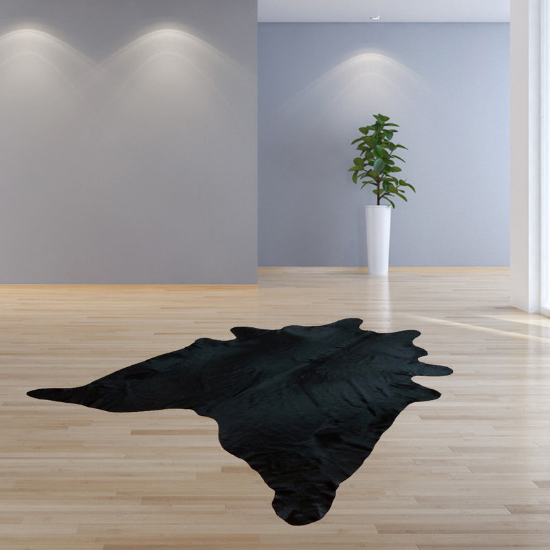 6.5' Natural Black Brindled Cowhide Rug