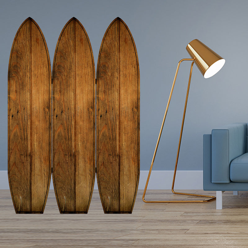 "47"" x 1"" x 71"" Brown, Wood, Coastal, Surfboard - Screen"