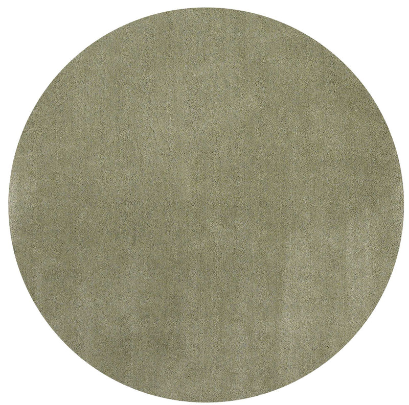 8' Round Polyester Sage Area Rug