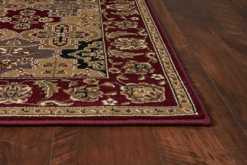 "9'10"" X 13'2"" Polypropylene Red Area Rug"